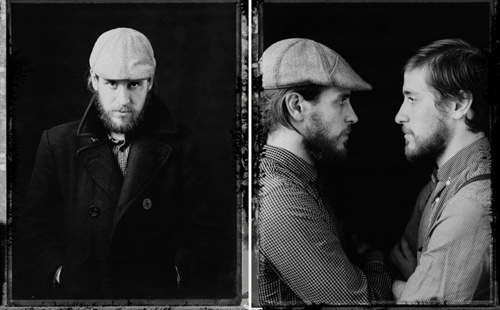 Portraits of the Brothers Wright by  Stephen DeVries . (Left: Brandon Wright; Right: Brandon - left, Brian - right).