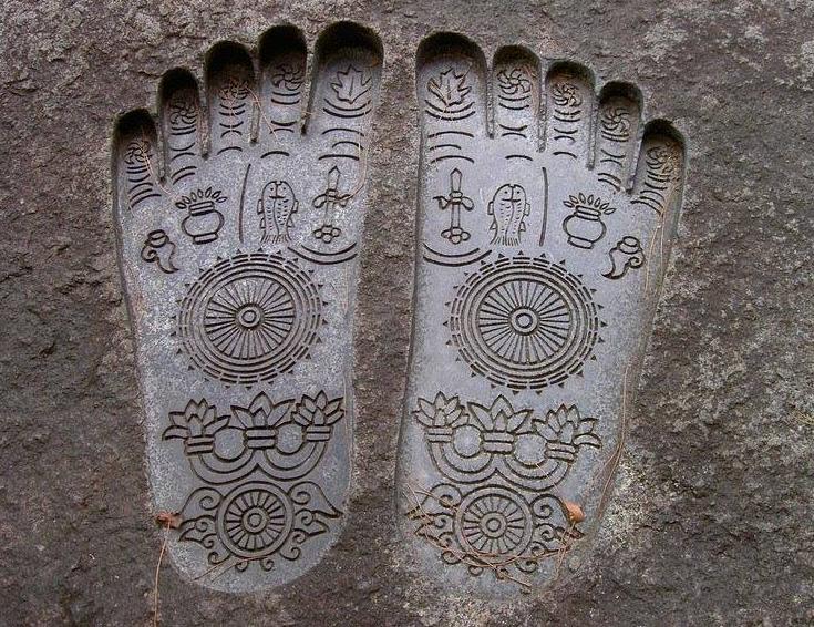 Paduka imprint, India's oldest form of footware.