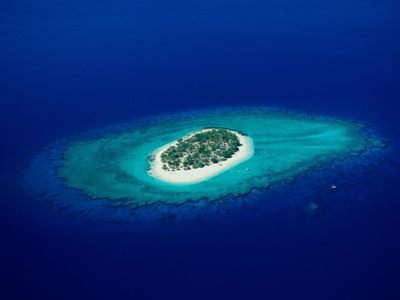 """This is Tahiti. Or it could be a pretty visual cue for the word """"insular""""."""