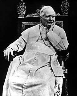 Pio Nono -- Pius IX, who pronounced the doctrine of papal infallibility.
