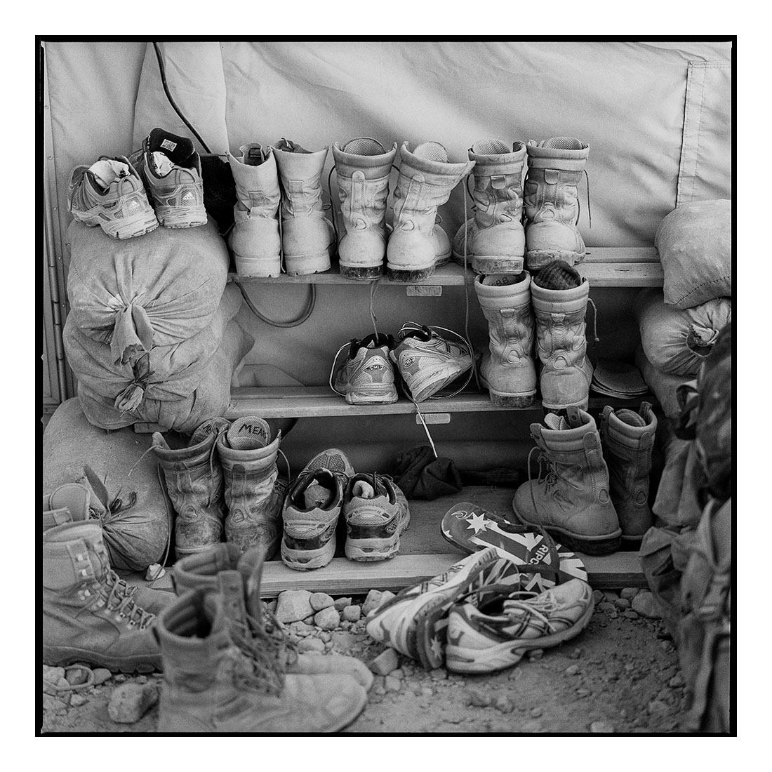Boots   (2011) Archival pigment prints on Ilford paper 40cm x 40cm | Edition of 25 + 3 Artist Proofs 100cm x 100cm | Edition of 10 + 3 Artist Proofs