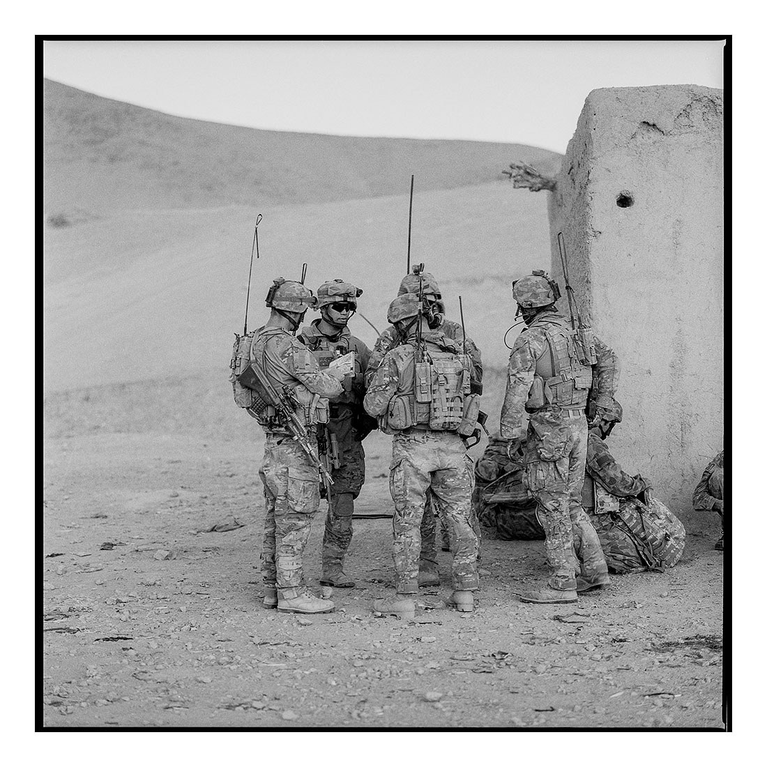 Briefing  (2011) Archival pigment prints on Ilford paper 40cm x 40cm | Edition of 25 + 3 Artist Proofs 100cm x 100cm | Edition of 10 + 3 Artist Proofs