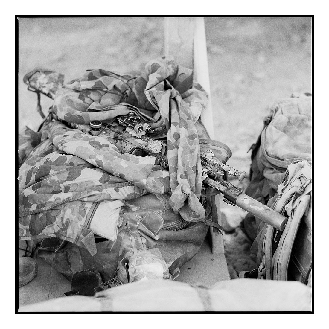Rifle   (2011) Archival pigment prints on Ilford paper 40cm x 40cm | Edition of 25 + 3 Artist Proofs 100cm x 100cm | Edition of 10 + 3 Artist Proofs