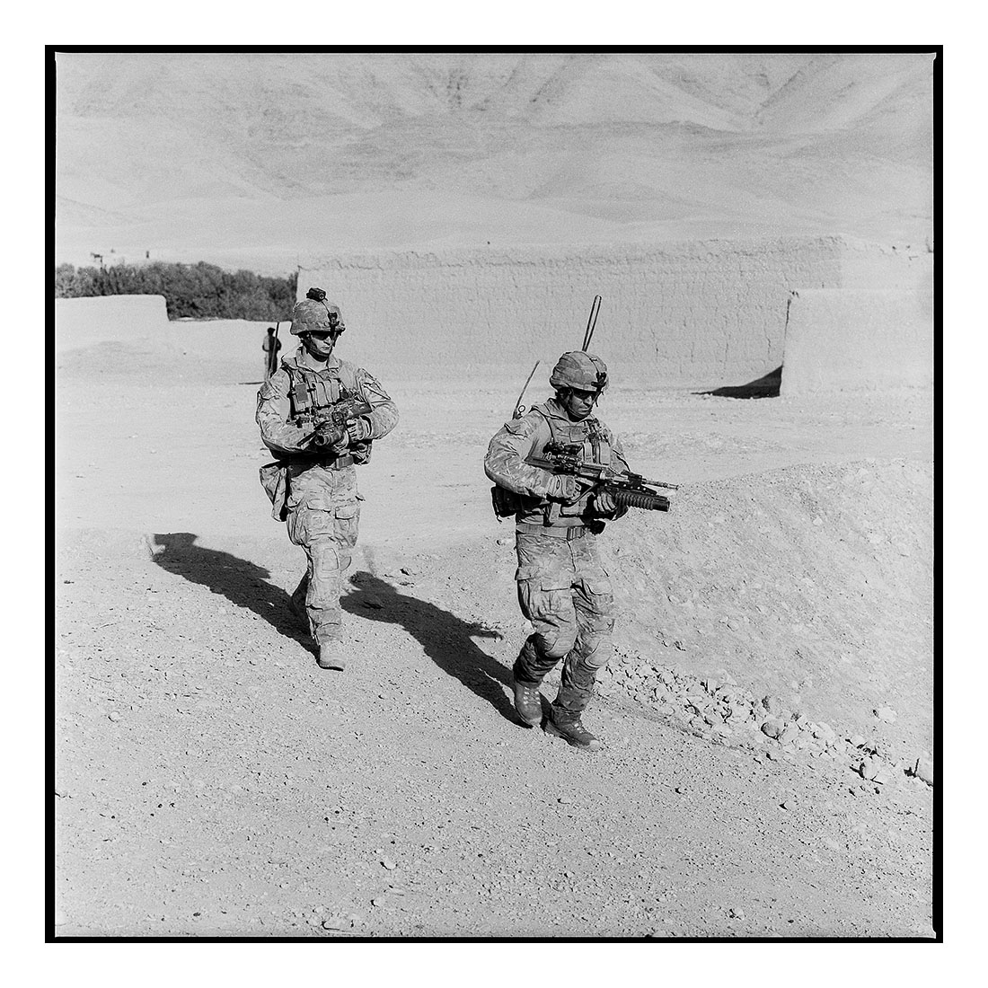 Two Soldiers   (2011) Archival pigment prints on Ilford paper 40cm x 40cm | Edition of 25 + 3 Artist Proofs 100cm x 100cm | Edition of 10 + 3 Artist Proofs