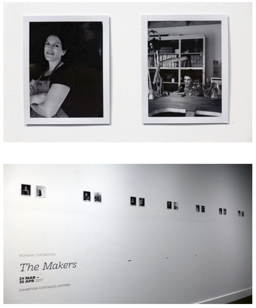 Photos of Rohan Thomson's 'The Makers' by Paul Costigan.
