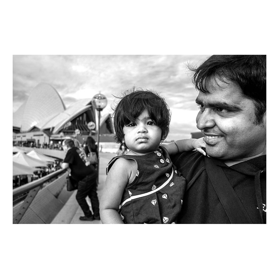 Father and daughter, Sydney Opera House.   (Oct, 2014).