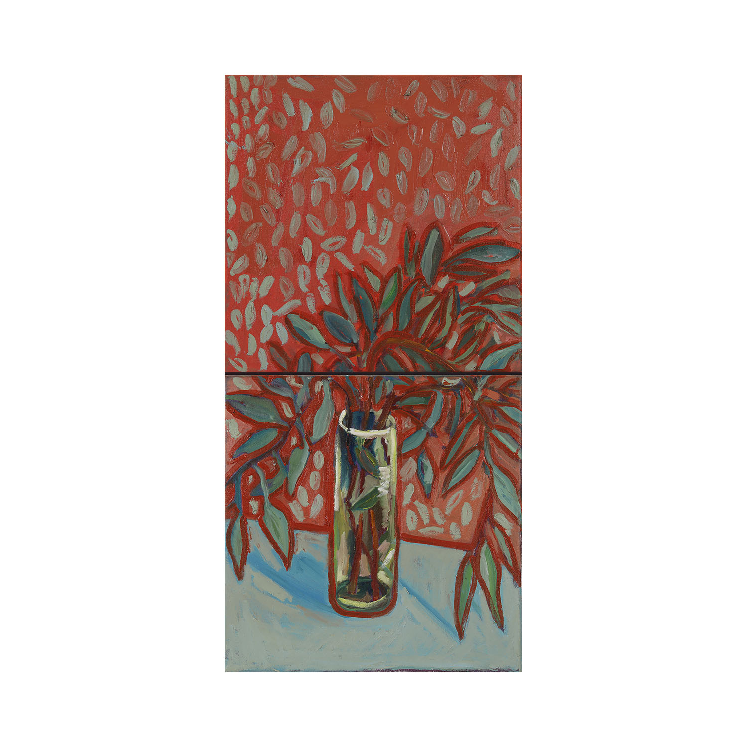 Still Life #3 (red)   (2018) (dyptich)  Oil on canvas  60cm x 30cm  SOLD