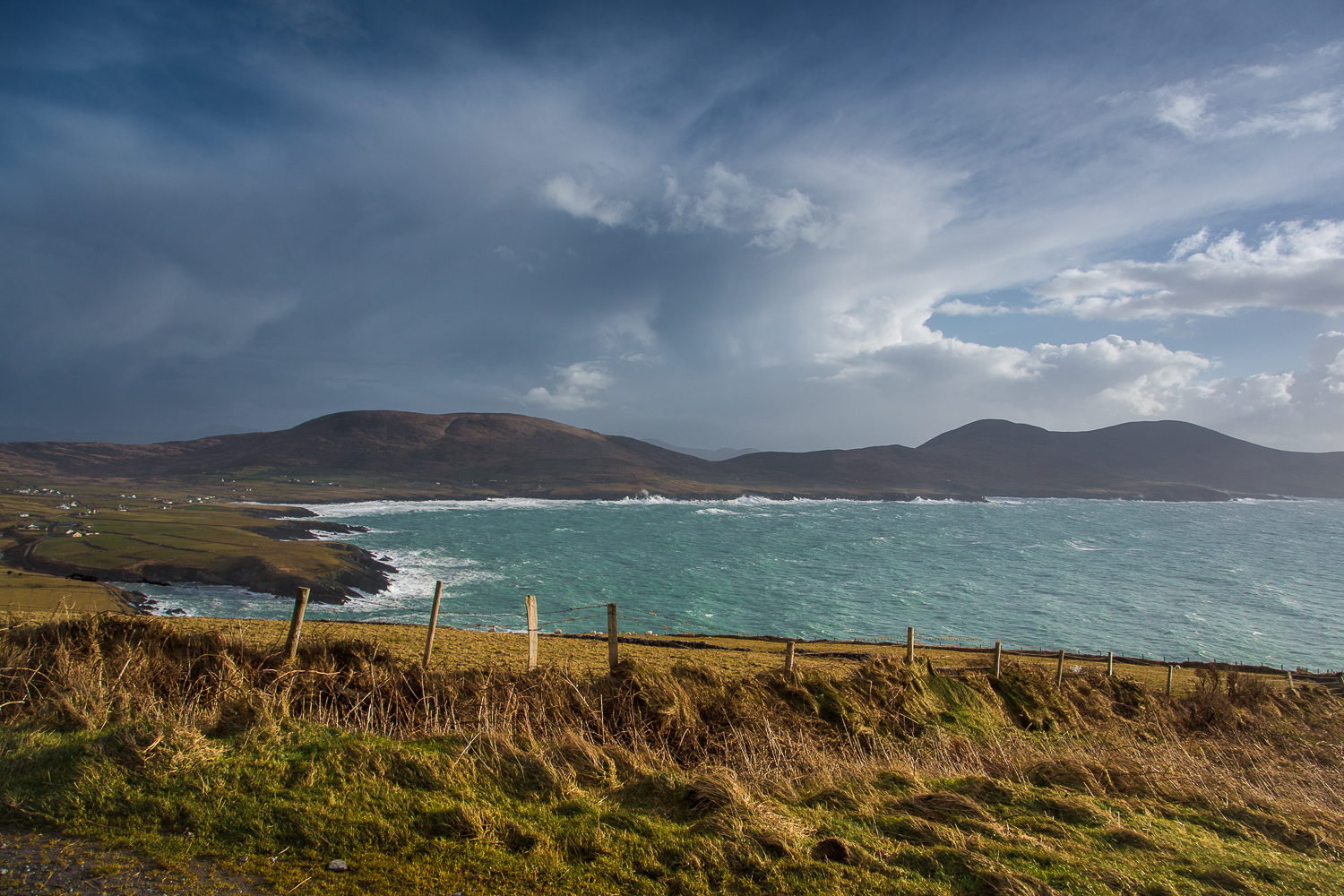 Finnian's Bay (back road from Ballinskelligs to Portmagee). ISO 200, f/8, 1/160 second, Canon MKIII, 24mm - 105mm Canon L @24mm with CPL and graduated ND4 filters