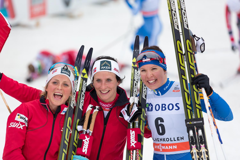 Second, First and Third. Johaug, Bjørgen and Kerttu Niskanen