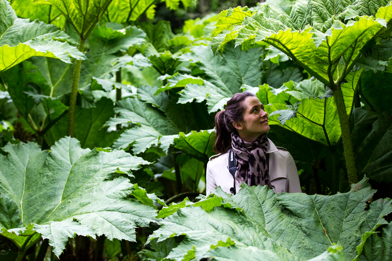 Eva getting lost in the gardens