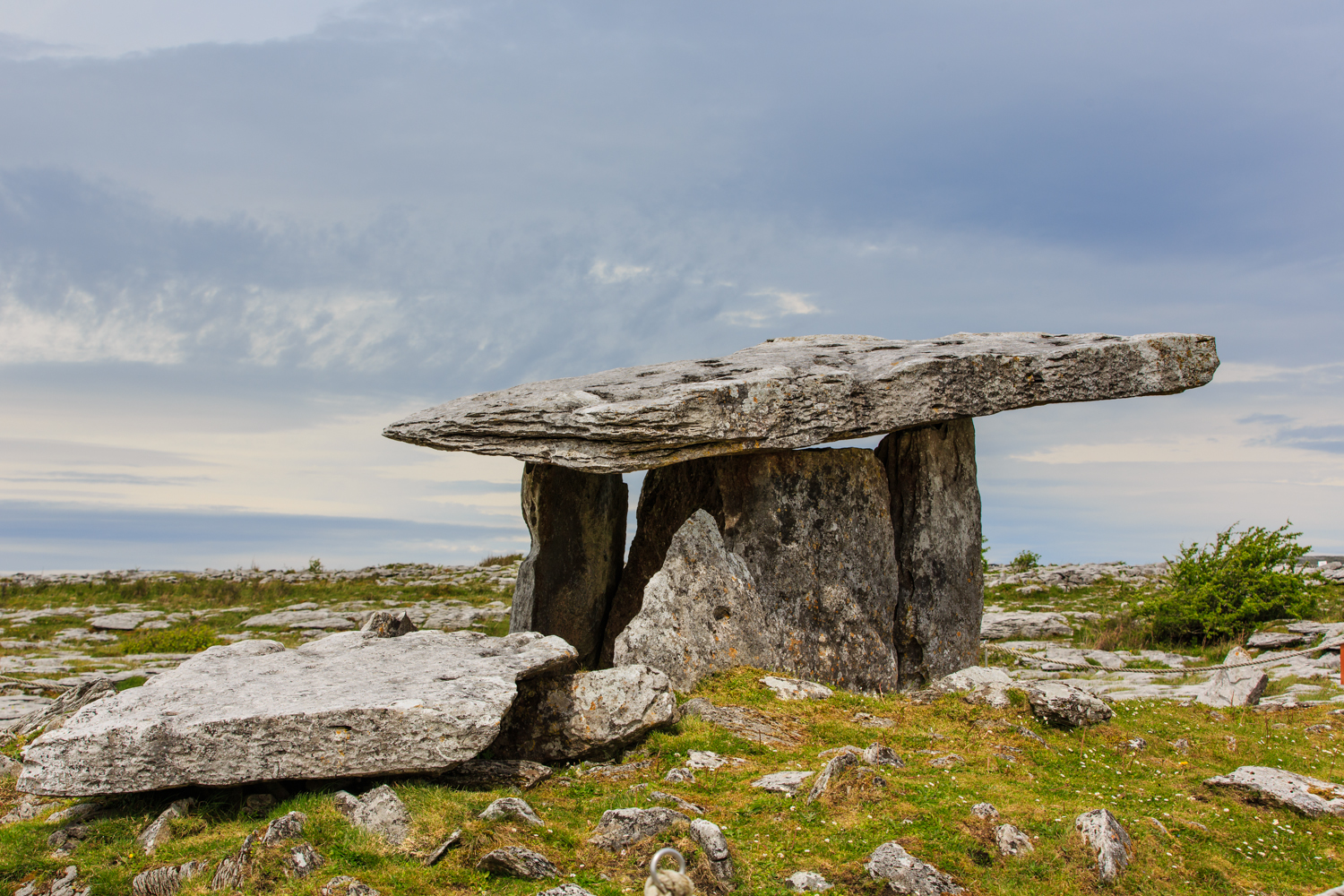 An ancient burial chamber from around 3000 BC.