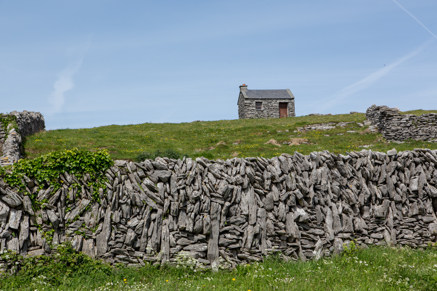 A local stone hut which appeared still to be in use.
