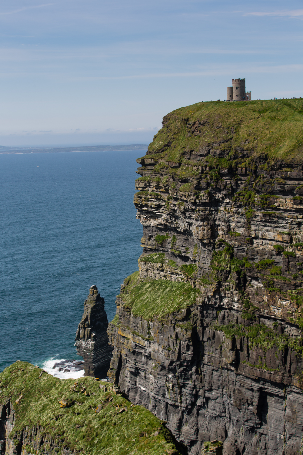 Another view of the cliffs, The Stack and O'Briens Tower.