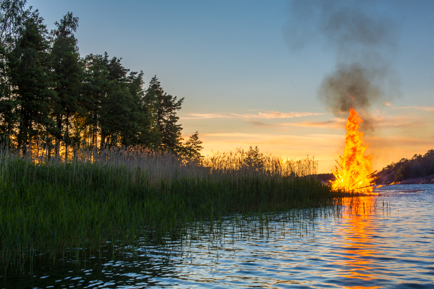 Midsommer in Finland, Finnish style.