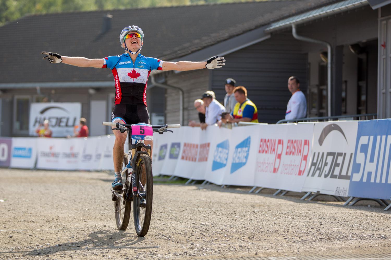 Catherine Pendrell. 2014 XC MTB World Champion