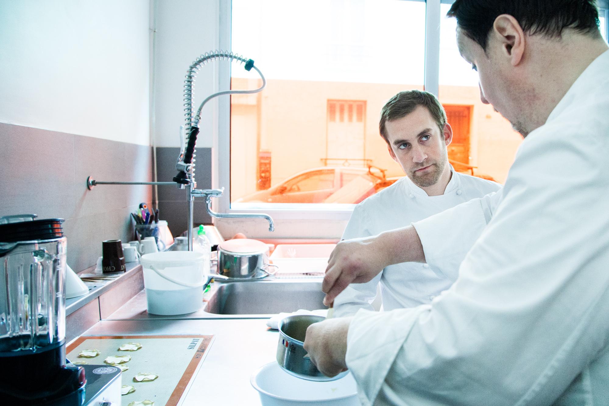 Avec Xavier Duport, Philippe Conticini dans son atelier-laboratoire, rue de Chine.