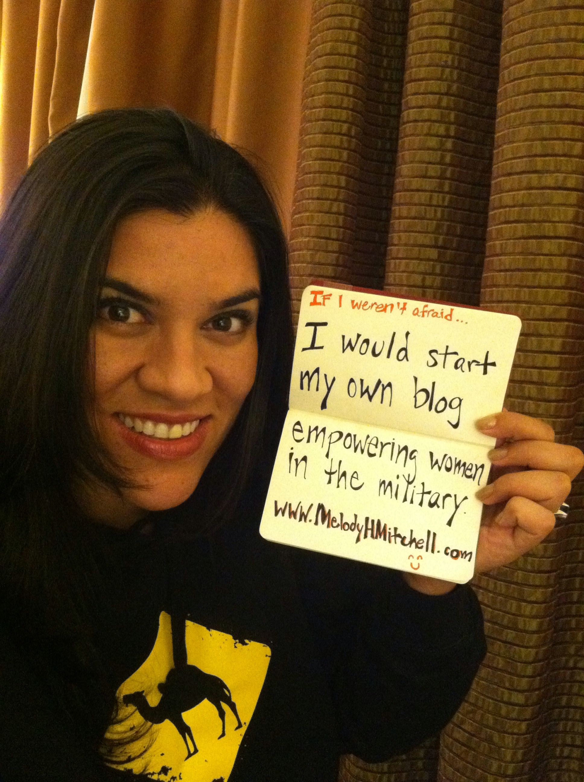 If I weren't afraid I would start my own blog empowering women in the military...