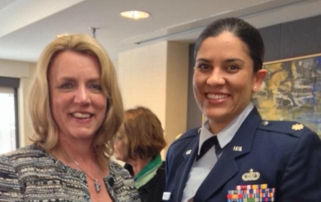 With SECAF Hon Deborah Lee James at WIIS - Women in National Security Event, 28 Mar 14