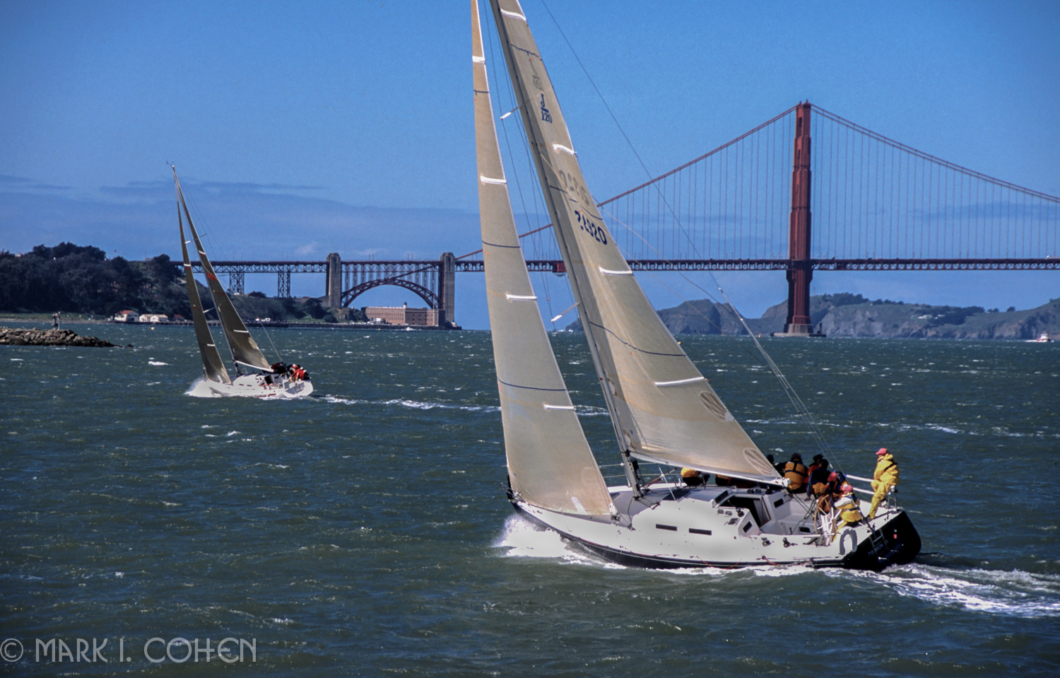 Under sail, San Francisco Bay 1998