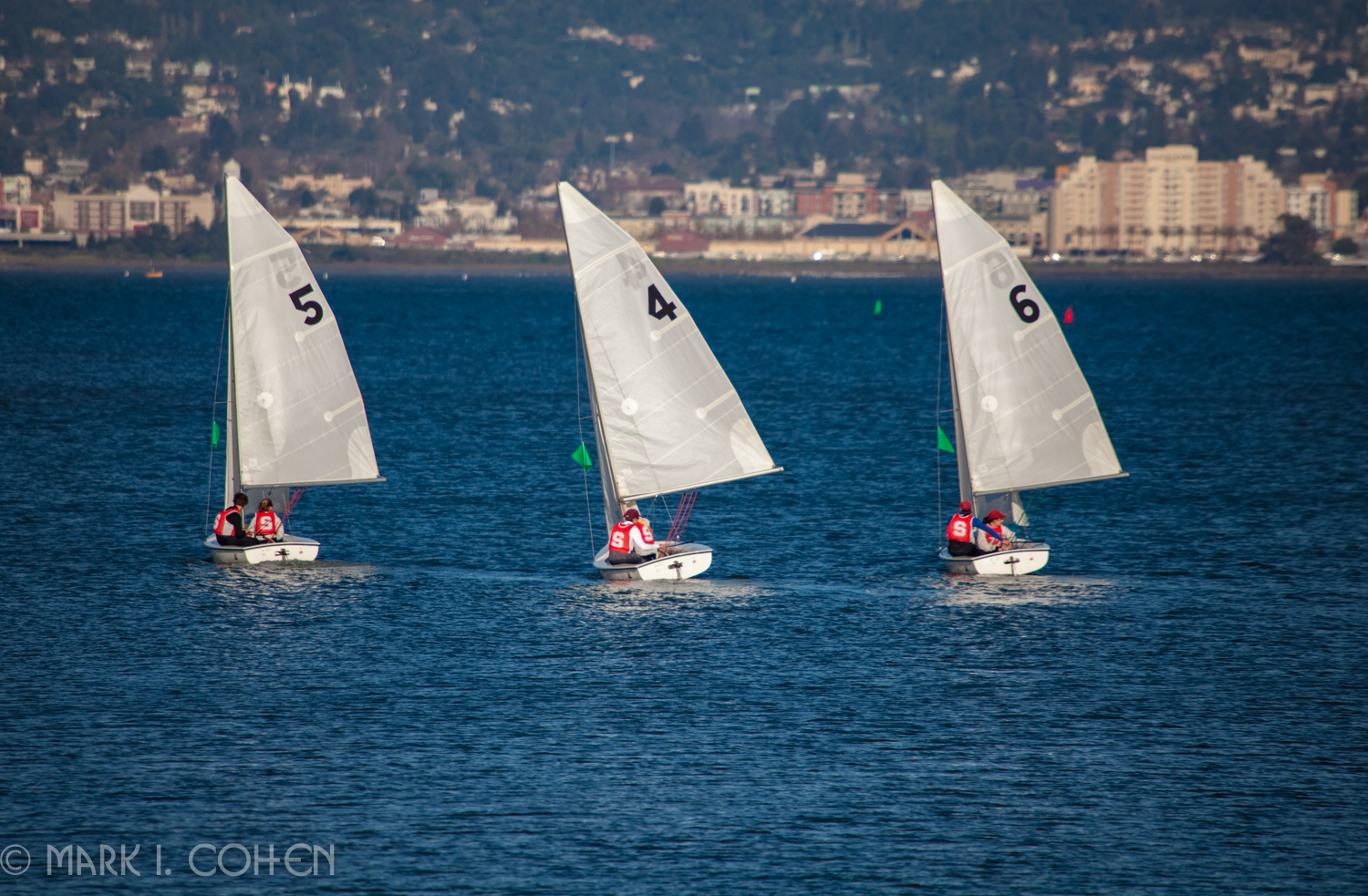 Boats under sail, San Francisco Bay 2012