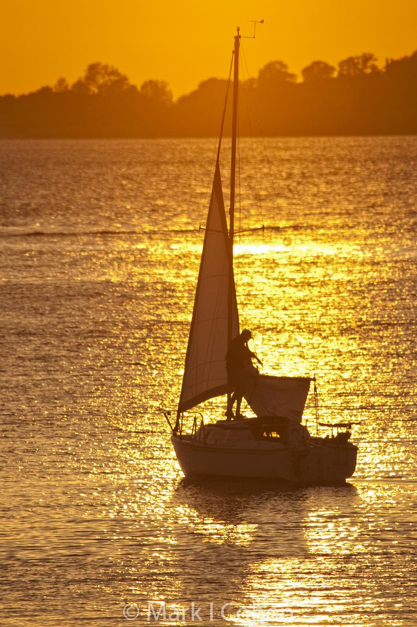 Sunset on Folsom Lake