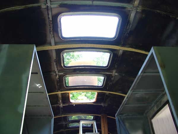 Front three skylights inside view