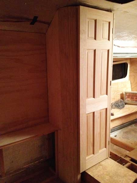 Driver side closet door in place.