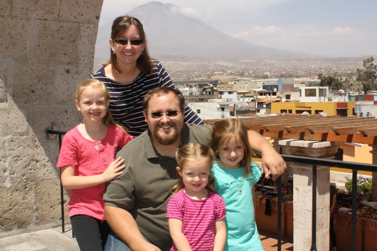 Kyle and Larissa Smith; Shaye, Cora, Aria In Arequipa from Sept 2008 to Apr 2015-  theroadgoeson.net