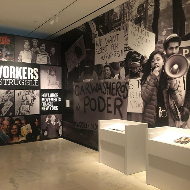 "I had no idea why #unionsquare is called ""union"" square till we worked on this show at @museumofcityny #cityofworkers. We are all #hardworking #newyorker. Happy to be part of this exhibition. #studiolife #workharder #museumgraphics #exhibitiondesign"