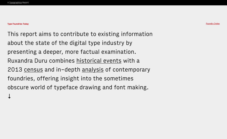 Type Foundries Today — Ruxandra Duru