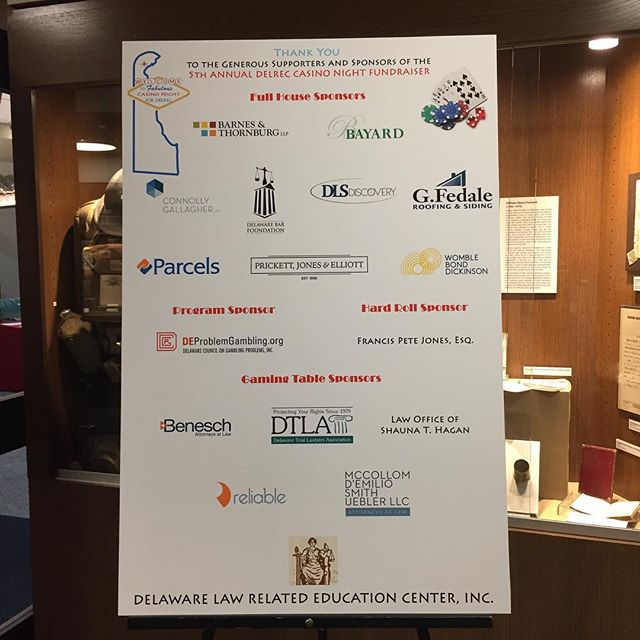 Proud to support a great organization- Delaware Law Related Education Center (DELREC). Thanks to everyone who came out to @delawarehistoricalsociety and make tonight a great success!