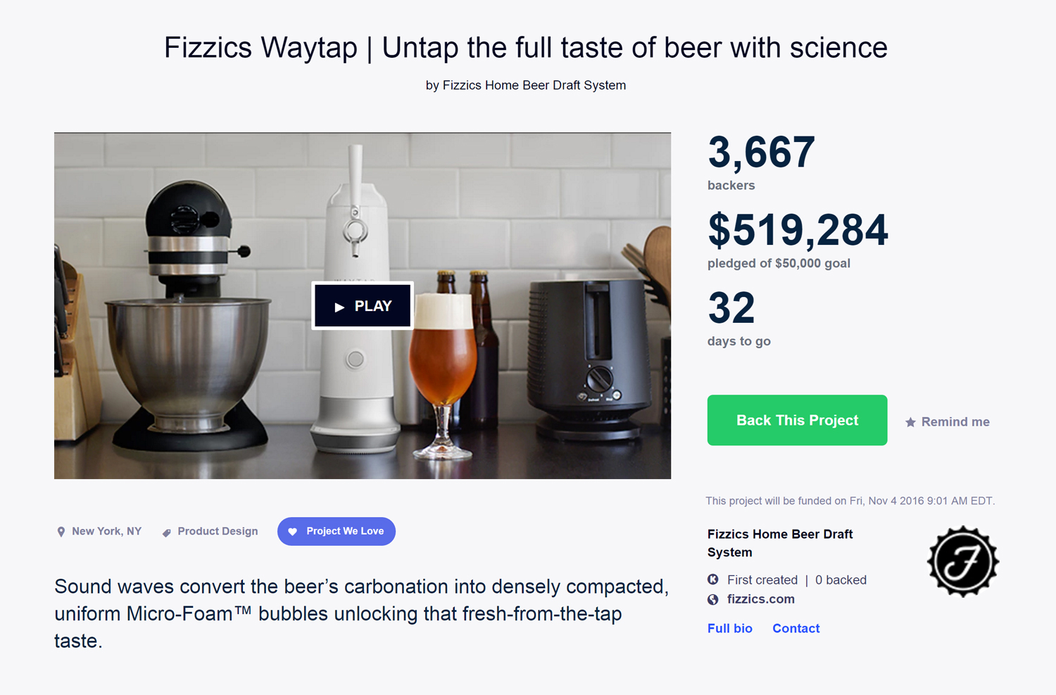 View WAYTAP on  Kickstarter