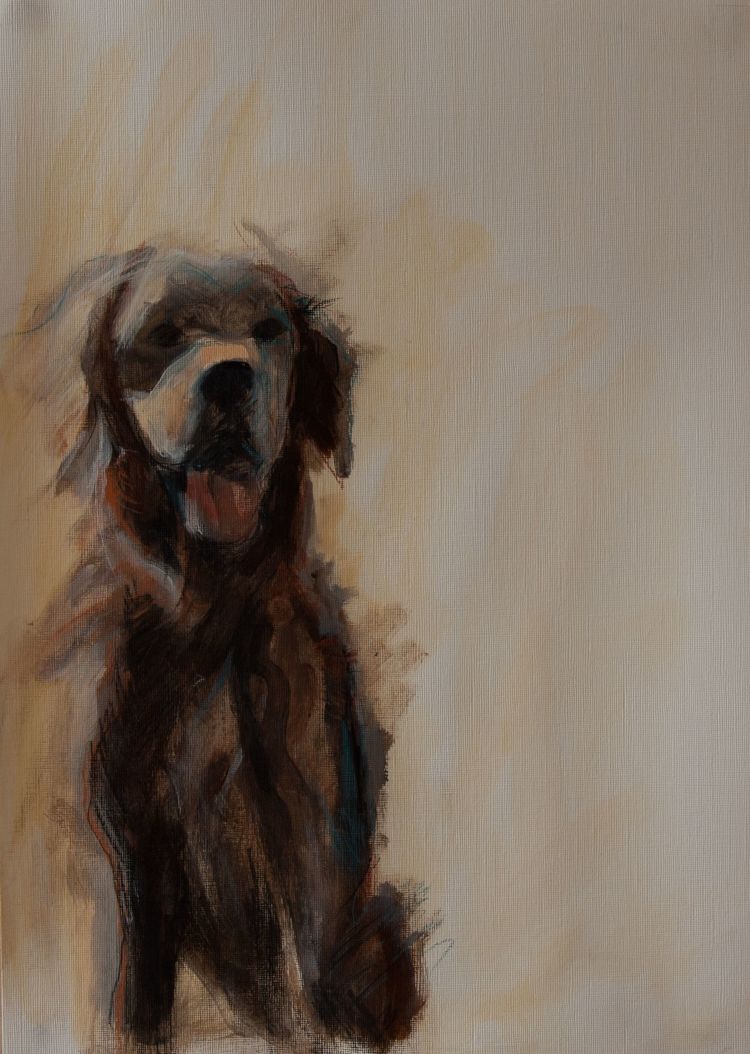 Dougal Mix Media piece - Sold at RBS Artfest 2014