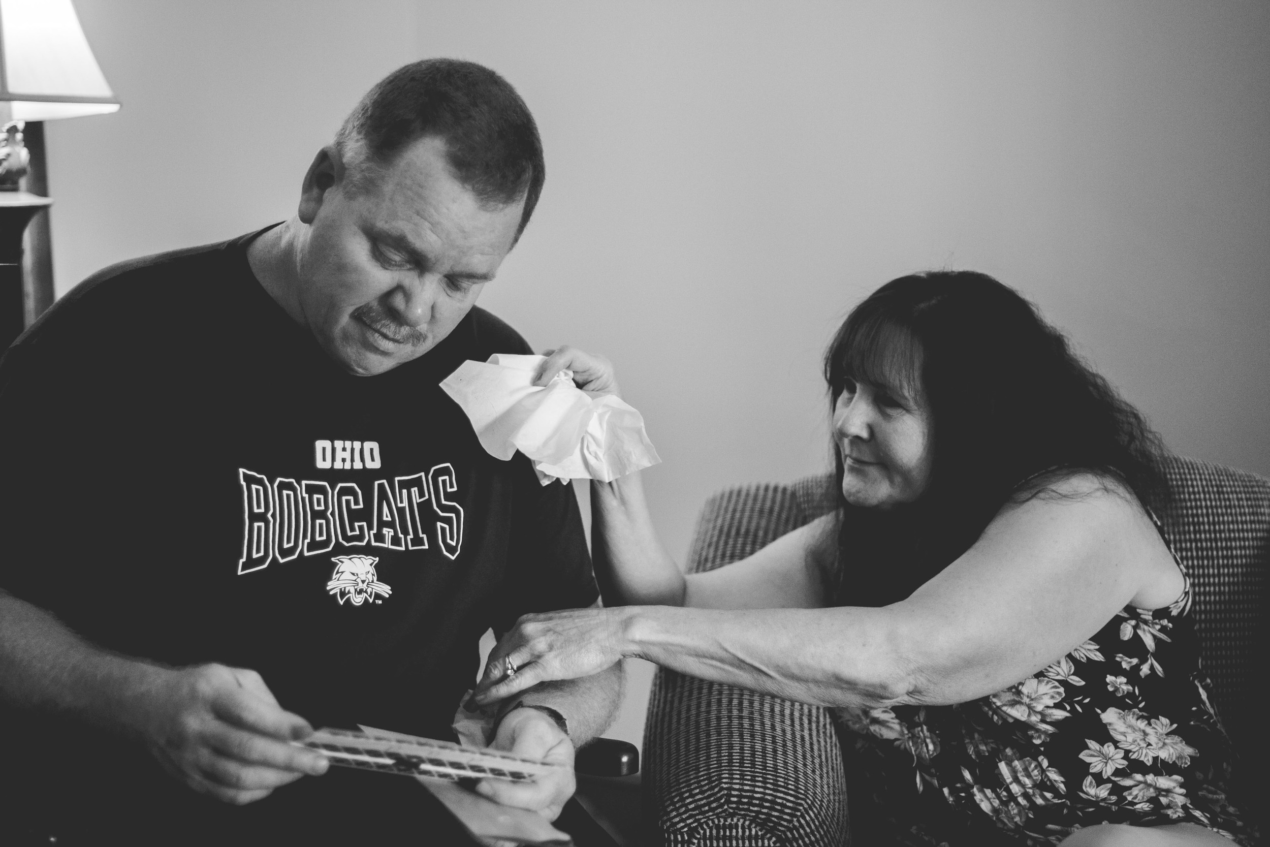Jessica created beautiful cards with letters inside — many tissues were passed around during these moments.