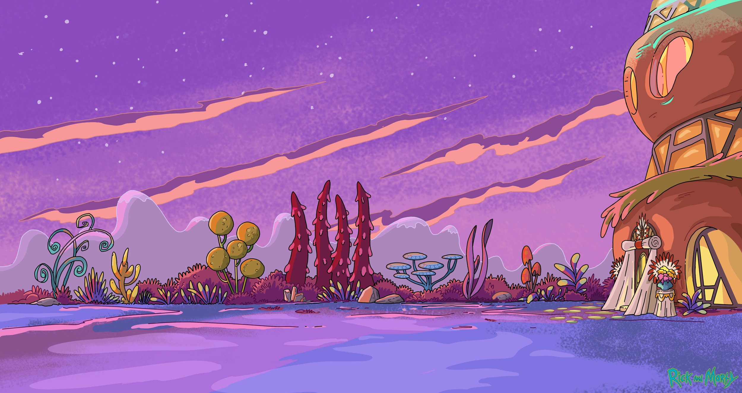 """BG Colour for """"Rick and Morty"""" (2015)"""