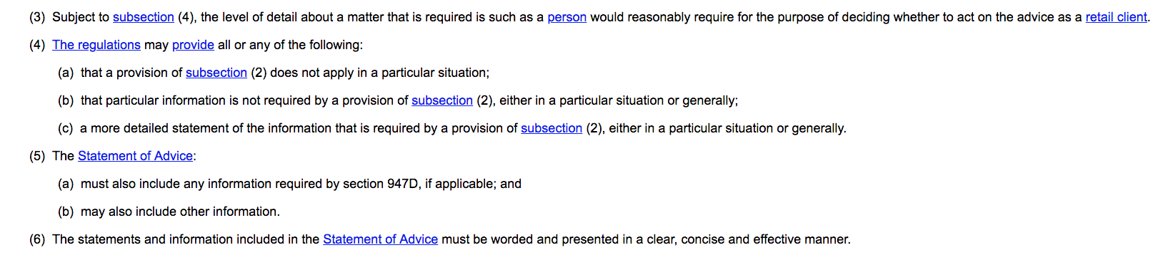 Extract from s 947C Corporations Act 2001