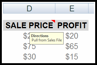 Freeze Pane Comment Box Problem and Solution in Excel