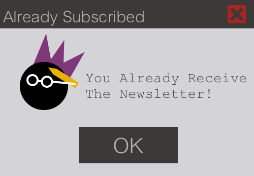 Already Subscribed Message Box