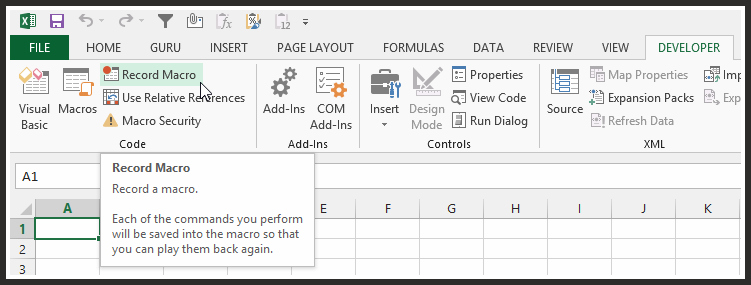 How To Create Personal VBA Macro File Excel