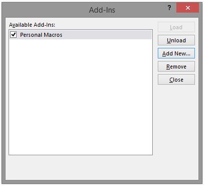 How To Create Personal VBA Macro File Microsoft PowerPoint