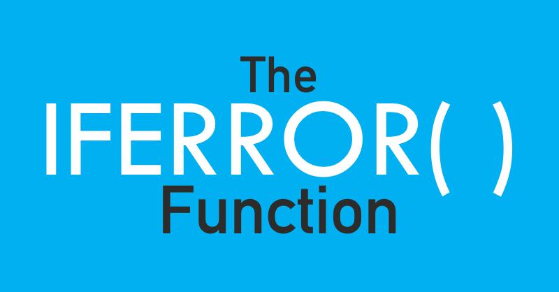 Iferror Excel Funtion