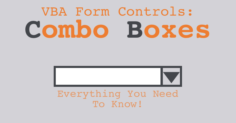 VBA For Excel's Form Control Combo Boxes — The Spreadsheet Guru
