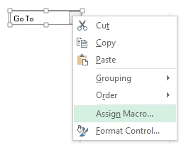 Excel Assign VBA Macro To Control Form Combo Box