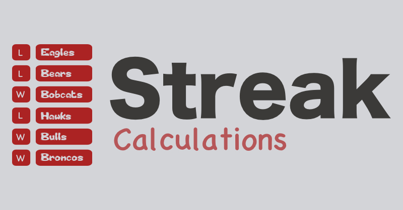 Formulas To Calculate Longest & Current Win Streaks — The
