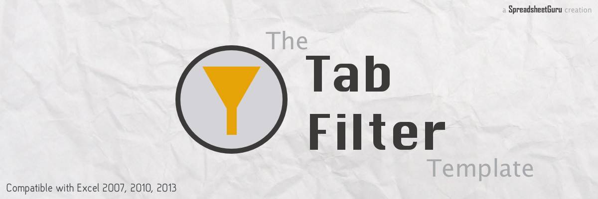 The Tab Filter Template for Microsoft Excel