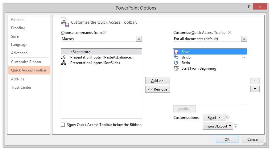 How To Run Personal VBA Macros in Microsoft PowerPoint — The