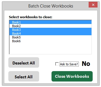 Batch Close Workbooks