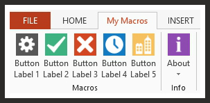 My Personal Macros Ribbon Layout For PowerPoint