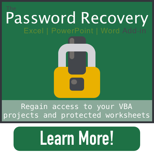 Password Recovery Excel, PowerPoint, Word Add-in