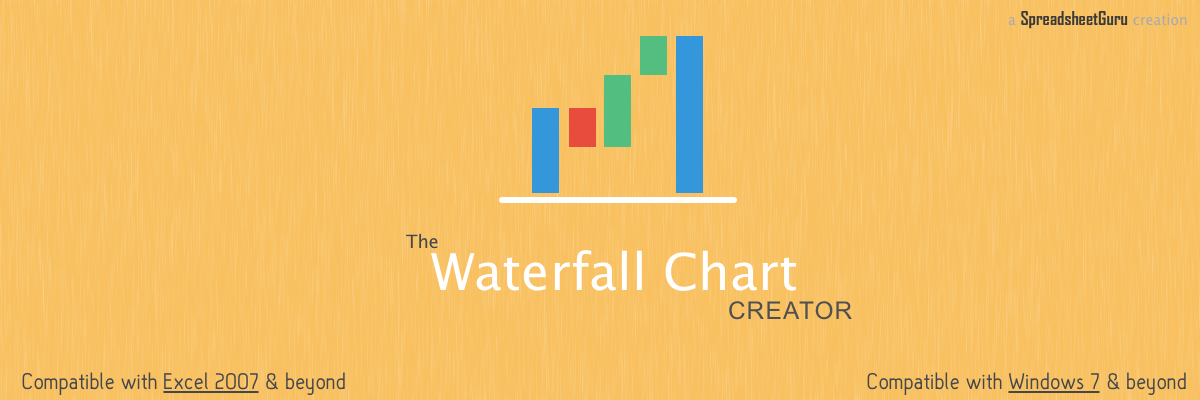 Microsoft Excel Waterfall Chart Creator Template